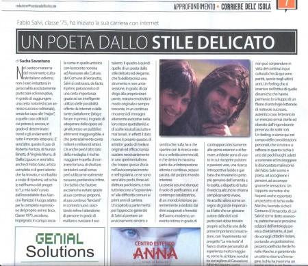 Fabio Salvi articolo Il Corriere dell'sola 22042010