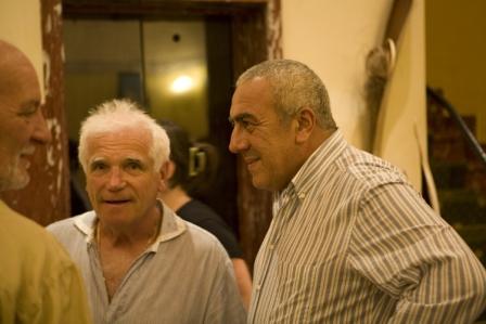 Alberto Liguoro al centro con Benedetto Valentino a destra