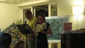 Viviana Mancini e Salvatore Ronga leggono l'antologia Ischia un'isola d'amore.Hotel Mareblù