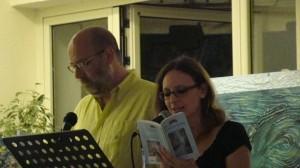 Viviana Mancini e Salvatore Ronga leggono l'antologia Ischia un'isola d'amore.Hotel Mareblù1
