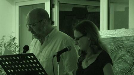 Viviana Mancini e Salvatore Ronga leggono l'antologia Ischia un'isola d'amore.Hotel Mareblù2