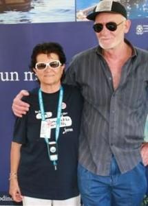Katia Massaro Presidente onorario Oceanomaredelphis e Bruno Mancini