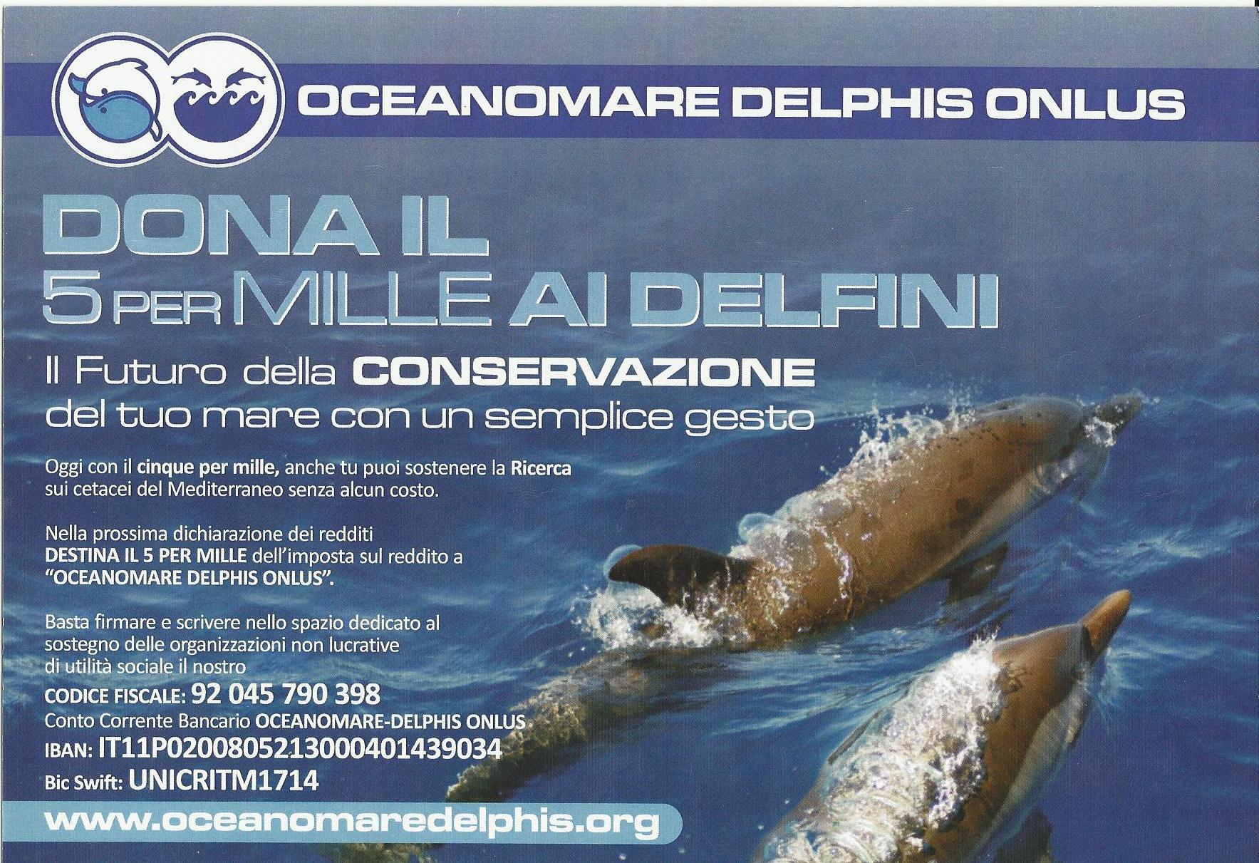 Oceanomare Delphis 5 per mille