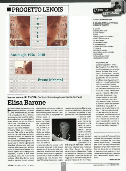 Il Dispari 2012 04 12 Elisa Barone comp pubb