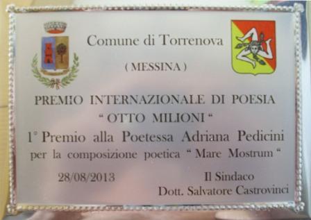 Tagra Adriana Pedicini primo posto  torrenova