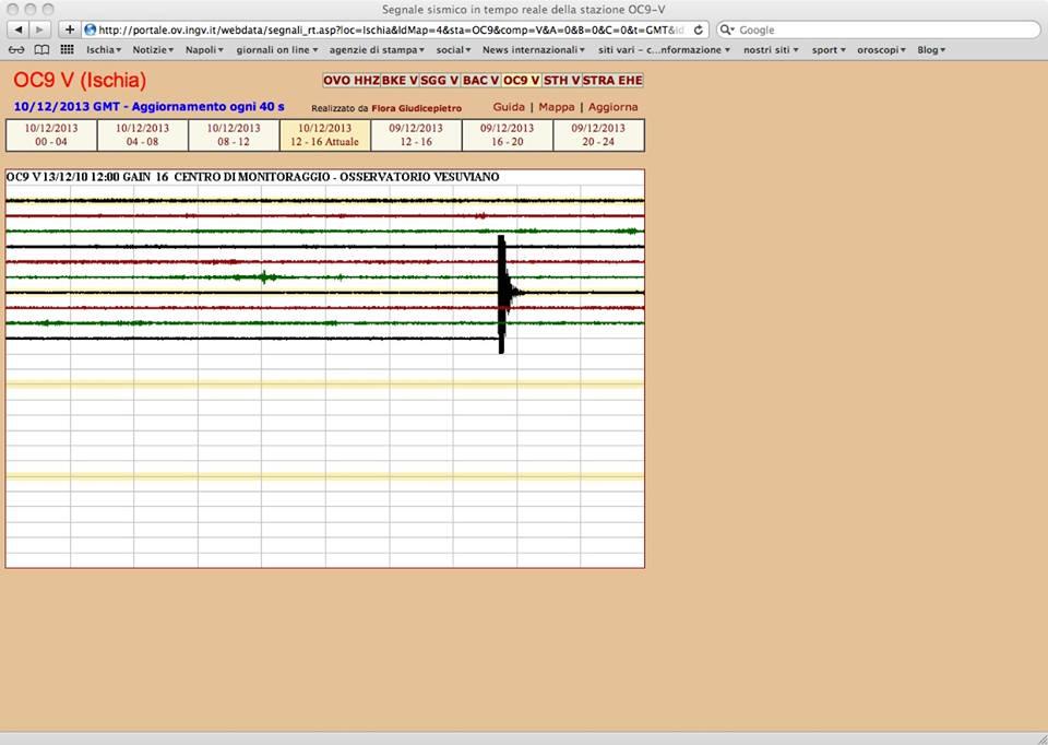 registrazione terremoton