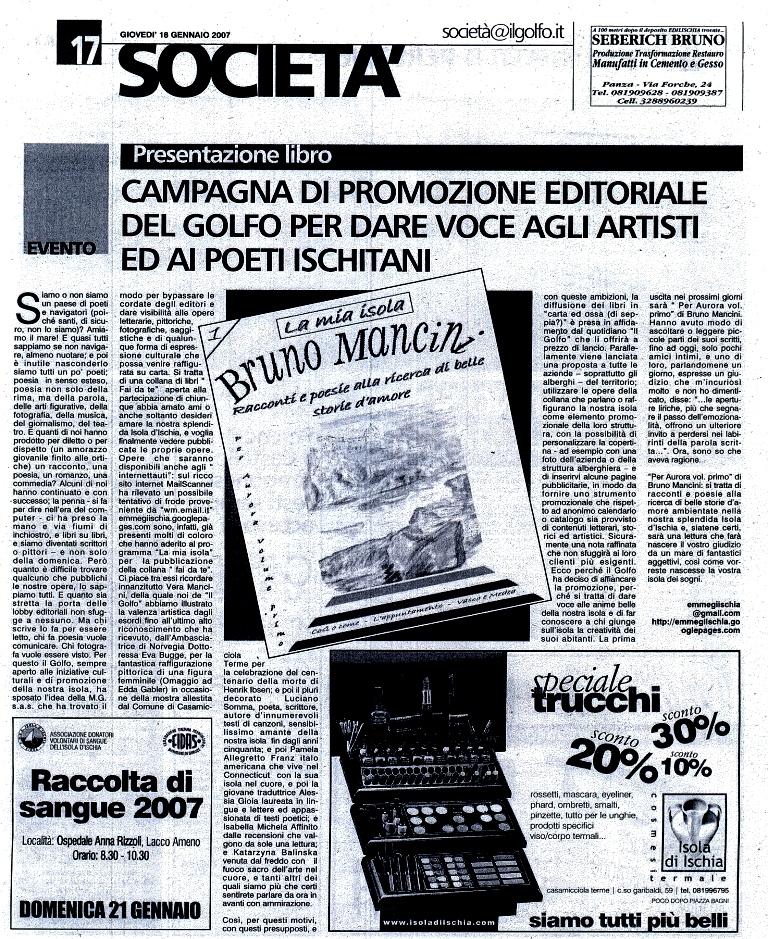 18 Gennaio 2007 - Quotidiano Il Golfo