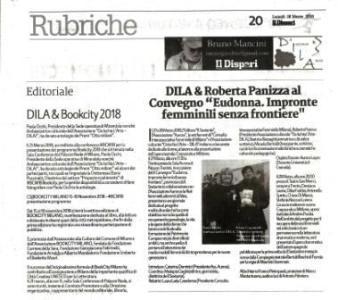 Il Dispari 20180326 – Redazione culturale