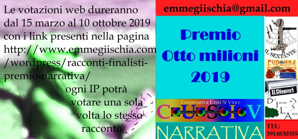"""Racconti finalistipremio narrativa """"Otto milioni"""" 2019"""