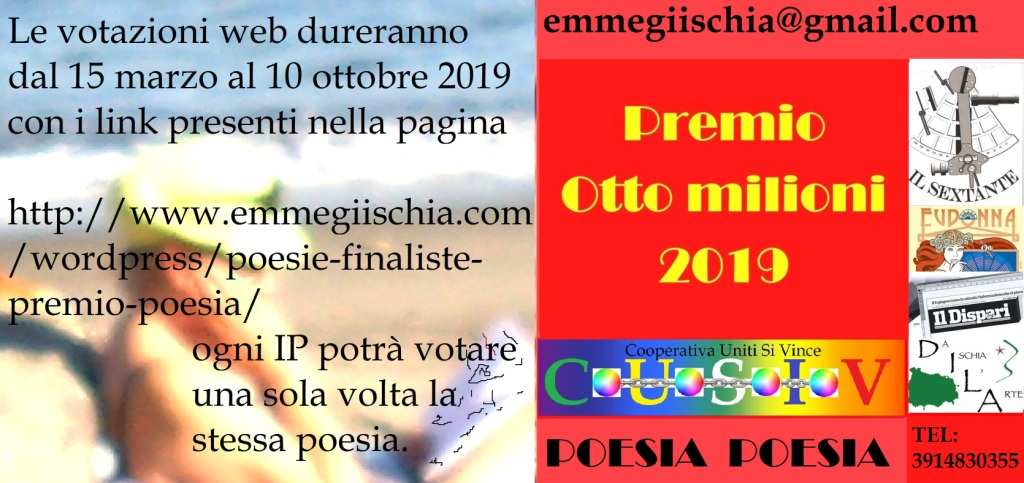 """Poesie finalistepremio poesia """"Otto milioni"""" 2019"""