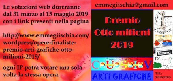 """Giuria 1 Premio arti grafiche """"Otto milioni"""" 2019Voti"""