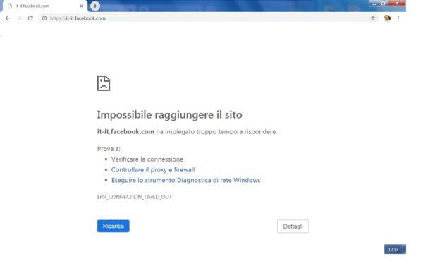 Facebook è bloccato