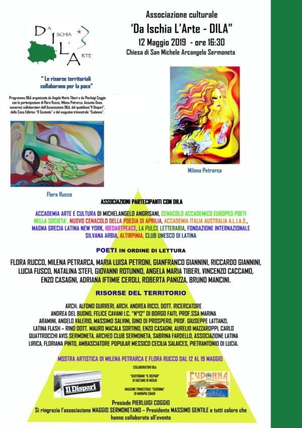 """L'Associazione culturale """"Da Ischia L'Arte - DILA"""" presenta l'Architetto Alfonso Gurreri al Maggio sermonetano 12/05/2019"""