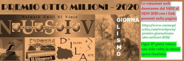 """Premio internazionale di Giornalismo """"Otto milioni"""" - 2020"""