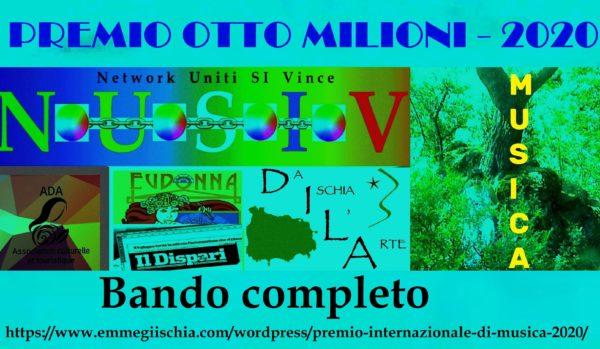"""Premio Musica """"Otto milioni"""" 2020 – Brani finalisti"""