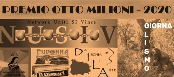 """Premio internazionale di Giornalismo """"Otto milioni"""" – 2020"""