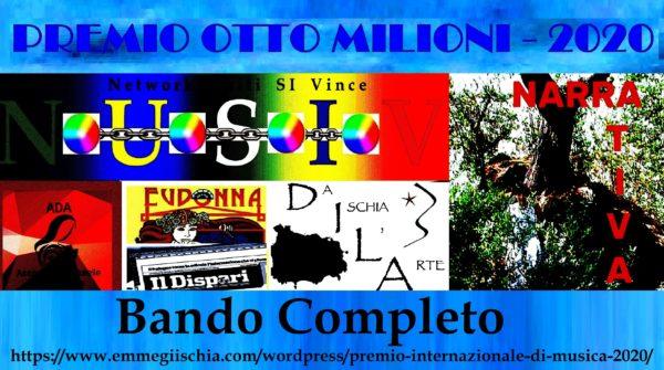 """Premio internazionale di Narrativa """"Otto milioni"""" - 2020"""
