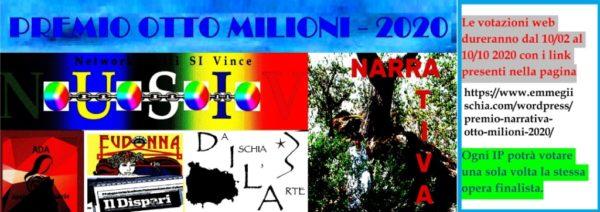 """Premio Narrativa """"Otto milioni"""" 2020 – Brani finalisti"""