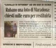 Il furto della foto di Maradona