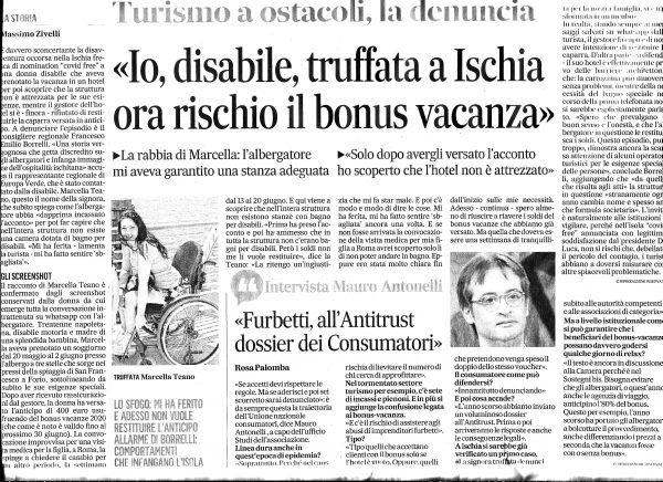 Disabile truffata a Ischia