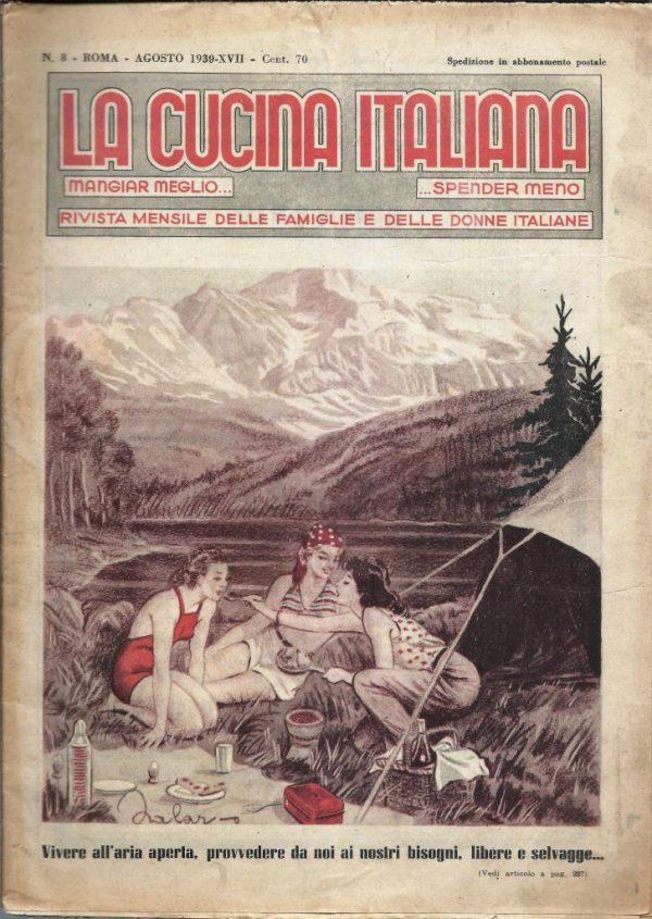 La cucina italiana Agosto 1939 n. 8 cop ant