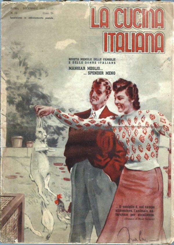 La cucina italiana Dicembre 1939 n. 12 cop ant
