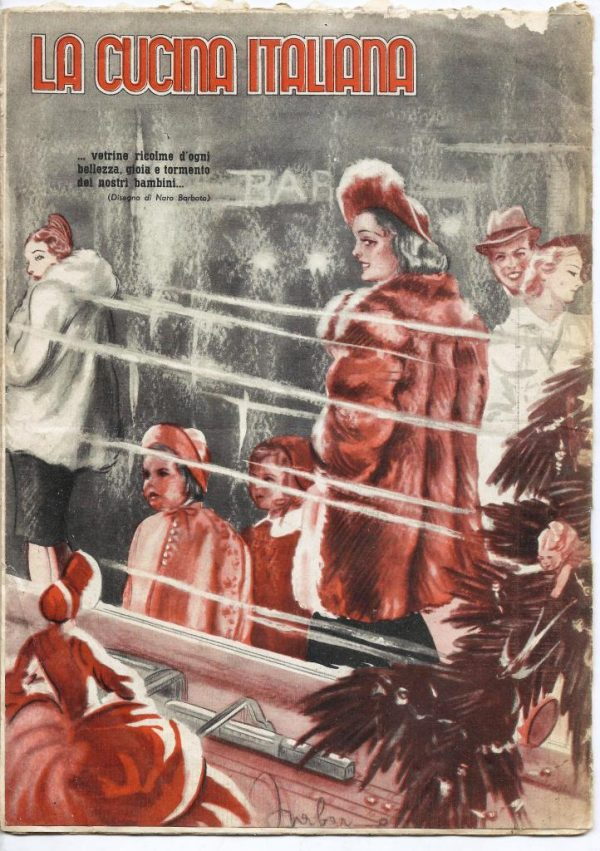 La cucina italiana Dicembre 1939 n. 12 cop post