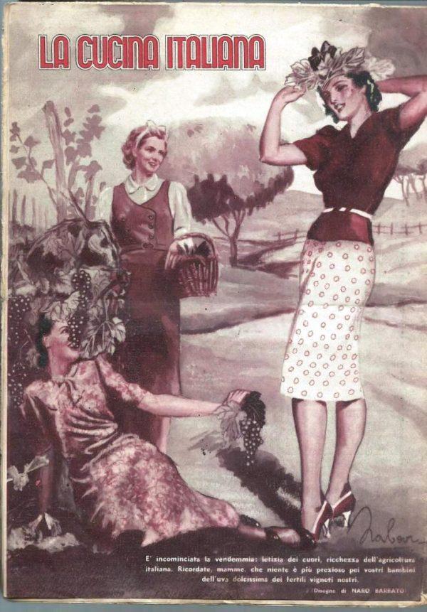 La cucina italiana Ottobre 1939 n. 10 cop post