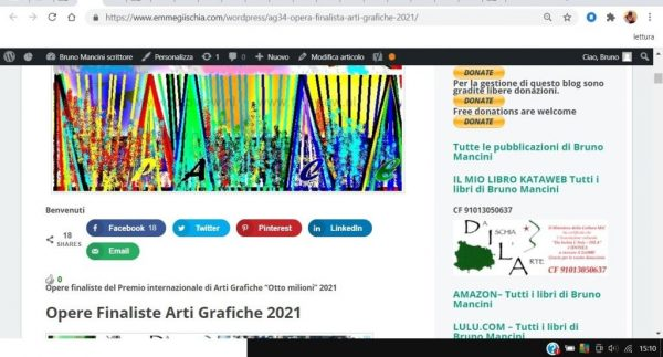 OTTO MILIONI 2021 arti grafiche ag34 Miguel Pinero