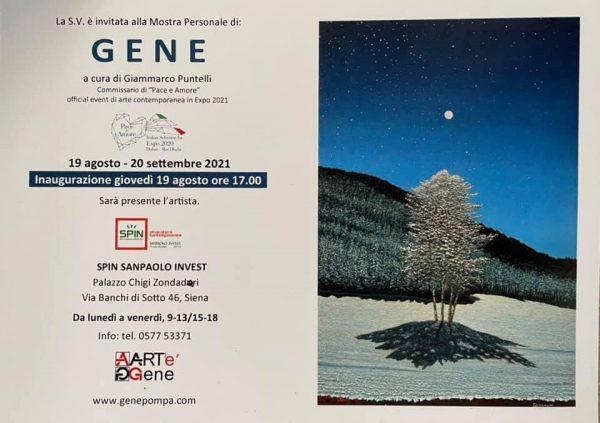 Gene Pompa, presso le sale della Pinacoteca Contemporanea di Spin