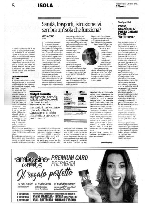 Il Dispari 20211013 – Redazione culturale DILA - ASL Vergogna