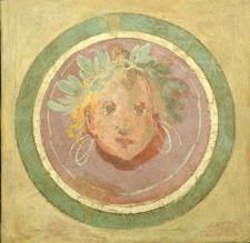 mostra Musei Capitolini Tondo con paesaggio e testa femminile
