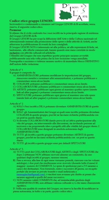 Codice etico gruppo LENOIS
