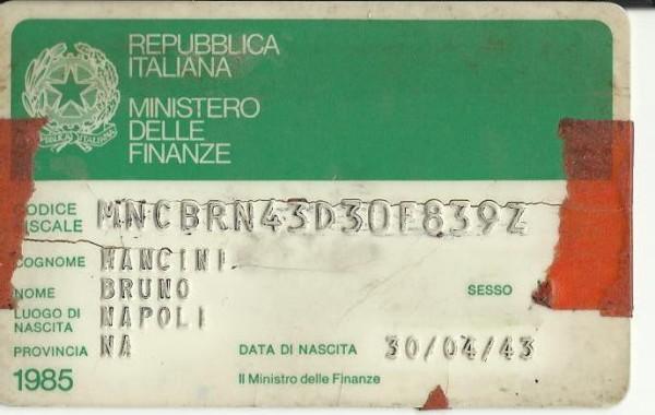 Codice fiscale Bruno 4