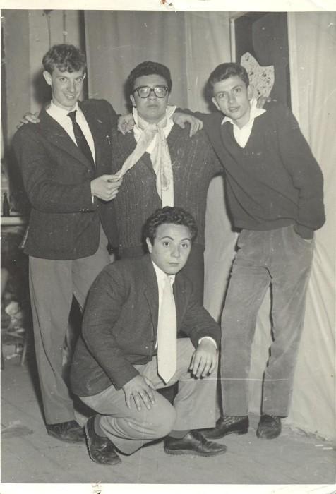 Da sinistra Bruno Mancini, Nicola Pantalone, Enrico Roja. Accovacciato Franco Esposito