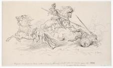 Gustave Dore'- Disegno preparatorio per l'edizione illustrata del Roland furieux, Paris 1879 illustraz per il canto XVII, penna inchiostro su carta