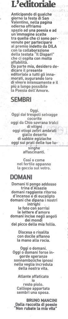 Il Dispari 20160201 editoriale