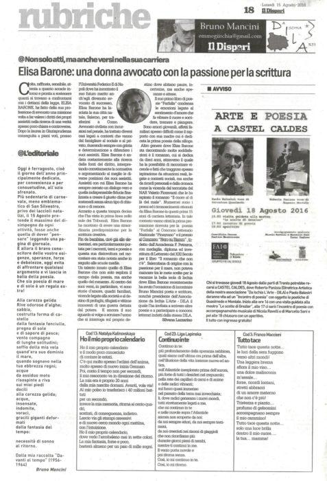 Il Dispari 2016-08-15