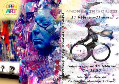 LOCANDINAbis 31_1_17 ufficiale mostra ANDREA TRISCIUZZI Sala da Feltre Open Art