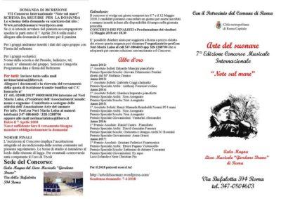 NOTE SUL MARE - VII Concorso Musicale Internazionale