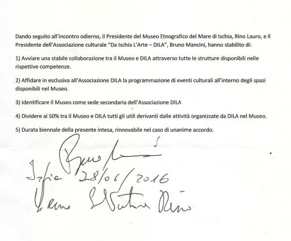 Museo Etnografico del mare accordo firmato ridotto