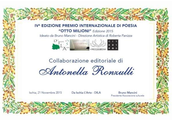 Pergamena Antonella Ronzulli collaborazione