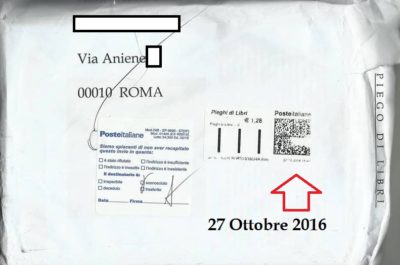 Le poste italiane si fanno pagare per questi disservizi Ischia - Roma andata e ritorno in oltre 110 giorni!