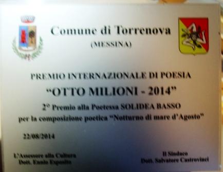 Premi torrenova otto milioni 2014 Basso