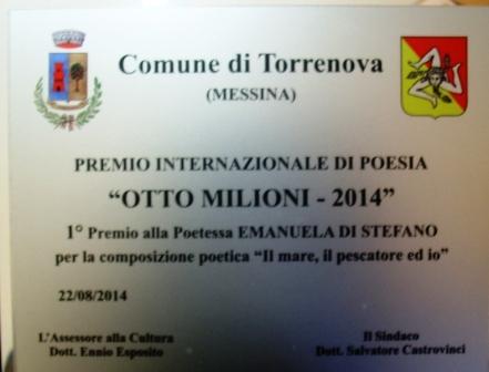 Premi torrenova otto milioni 2014 Di stefano 1