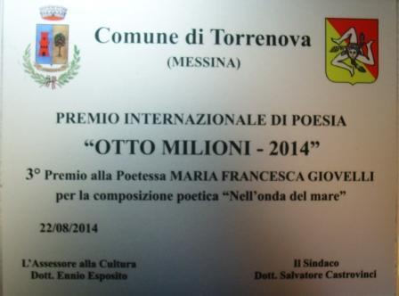Premi torrenova otto milioni 2014 giovelli
