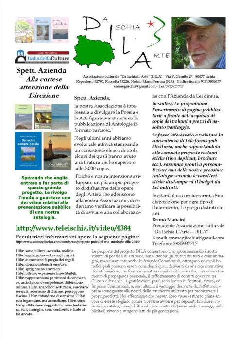 Proposte pubblicitarie antologie DILA 2015