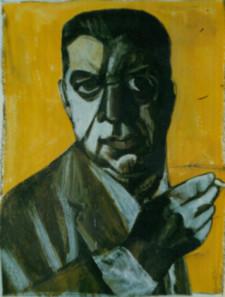 Eugenio Montale ritratto di Andrea Ventura mostra ANDREA VNETURA NEW YORKER E DINTORNI