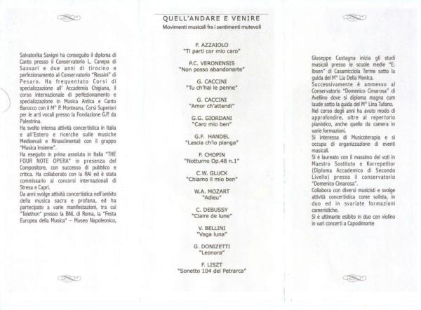 Salvatorika libretto di sala