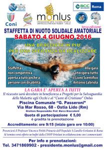MONLUS ONLUS Staffetta nuoto solidale 4 edizione